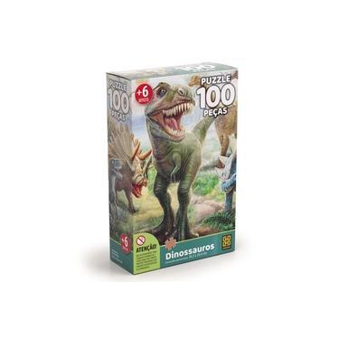 Imagem de Quebra-Cabeça - Dinossauros - 100 Peças - Grow
