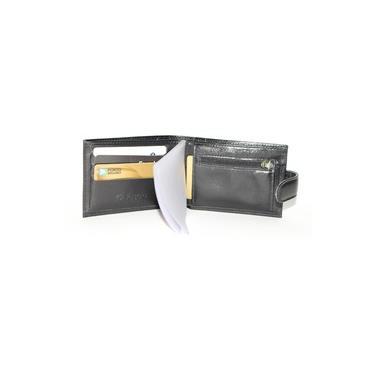Carteira De Couro Legítimo Masculina Botão De Pressão Cartões Moedas Documentos Fasolo H016143