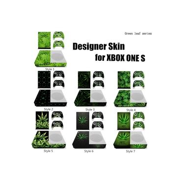 Para O Console De Jogos Do Xbox One S + 2 Controladores De Jogos: 7 Estilo De Moda Decalques De Adesivo Removível