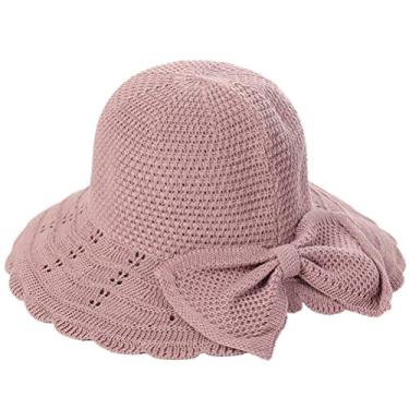 Chapéu de sol KesYOO Fashion Dome chapéu criativo tricotado chapéu de sol praia chapéu chapéu chapéu de praia chapéu chapéu chapéu de cabeça férias (bege), Roxa, tamanho �nico