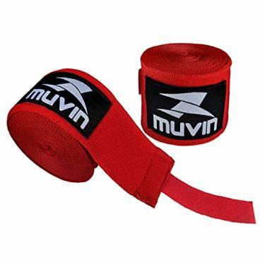 Imagem de Bandagem Elástica Muvin 5 Metros Com Velcro e Alça Para Polegar - Atadura de Proteção Para Mãos e Punhos - Faixa de Boxe - Muay Thai - MMA - Artes Marciais - Treino - Unissex - Várias Cores