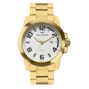 f726e77d01f33 Relógio Masculino Technos Racer 2115MGS 4B Dourado