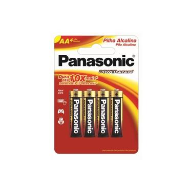 Pilha Alcalina Panasonic Power AA 4 Unidades