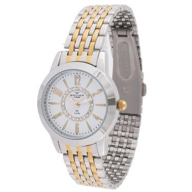 0ab380c7f4f Relógio Feminino Backer Analógico 10249134F Prata Dourado