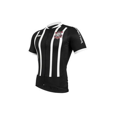 Camisa Corinthians Oficial Ciclismo Preta E Branca Refactor