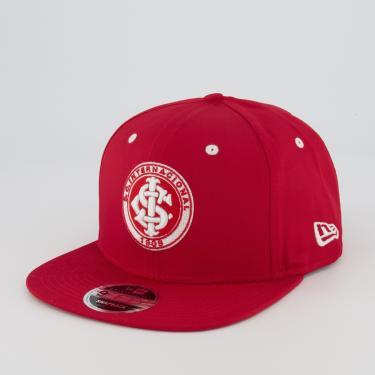 Boné New Era Internacional 950 Vermelho e Branco
