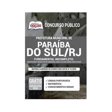 Imagem de Apostila Concurso Paraíba Do Sul Rj - Fundamental Incompleto