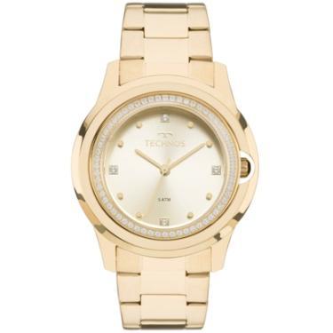 004b8c7c0b289 Relógio Feminino Technos Crystal 2035MLH 4X Pulseira Aço Dourada - Feminino
