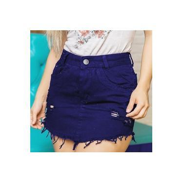Saia Jeans Feminina Destroyer Fashion