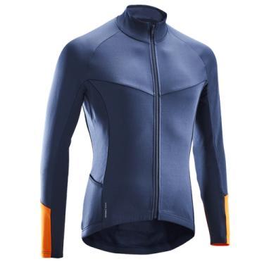 Camisa de manga longa masculina para ciclismo Road 500
