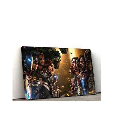Quadro Decorativo 40x60cm Marvel VS DC IV