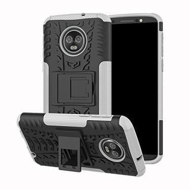 Capa para Moto G6 Plus, Dooge de camada dupla fina de TPU + PC bumper resistente de alto impacto durável antiderrapante absorção de choque capa protetora para Motorola Moto G6 Plus/G Plus (6ª geração)