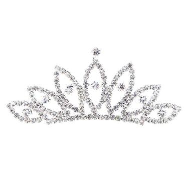 Imagem de LEDMOMO Tiara de tiara infantil coroa tiara pente coroas acessórios de fantasia joias