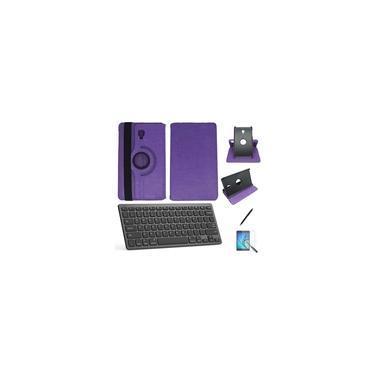 "Kit Capa/Teclado/Can/Pel Galaxy Tab A T590/T595 10.5"" Roxo"