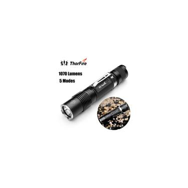 ThorFire VG15S 1070 Lumens 5 modos Lanterna LED 18650 Torch Light c / Memory Black -