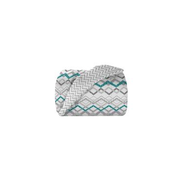 Imagem de Edredom King Teka Diamante Turim 150 Fios Branco Geométrico