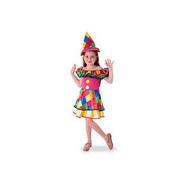 Fantasia Infantil Palhacinha Tam. G - Sulamericana 3db1ada9703