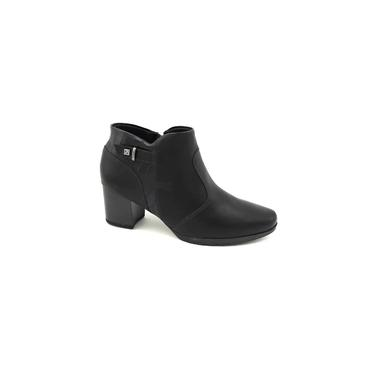 Bota Ankle Boot Piccadilly Preta Cano Curto 331036