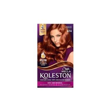 Imagem de Tintura Wella Koleston Kit Creme 674 Chocolate Acobreado