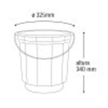 Imagem de Balde plastico 20 litros (alca de ferro) ARQPLAST