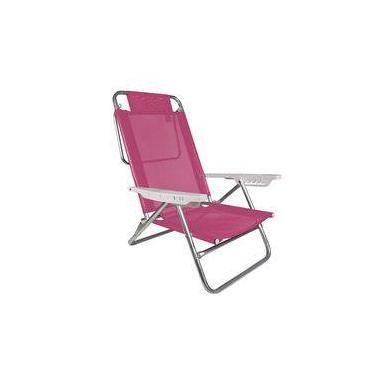 Cadeira De Praia Reclinável 6 Posições Summer Rosa Mor