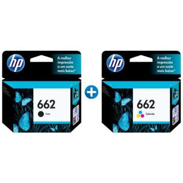 Cartucho de Tinta HP 662 2 Unidades Original - Preto + Colorido