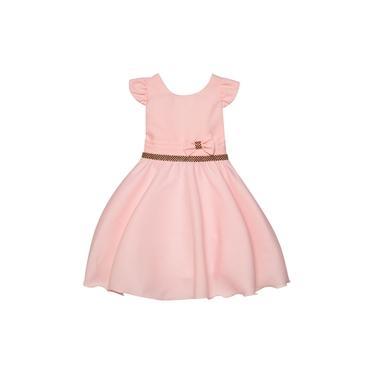 Imagem de Vestido Infantil Festa Cores Azul Royal Marinho Branco Laranja Off White Preto Pink Rosa Verde Vermelho