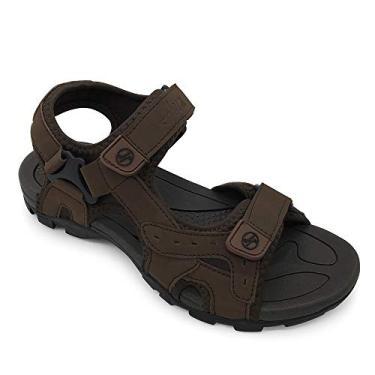 FUNKYMONKEY Sandálias esportivas masculinas esportivas com bico aberto para trilha e ao ar livre, Marrom, 12