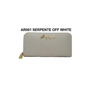 Carteira Feminina Couro Ani Razeck Ref. AR001 Serpente Off White