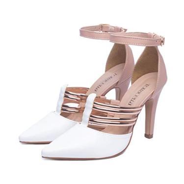 Imagem de Sapato Feminino Salto Alto Branco Social Scarpin Feminino Sapato Feminino Scarpin (34, Branco)