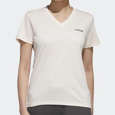 Camiseta Feminina Designed 2 Move Solid Branca E Rosa - Adidas