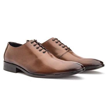 Sapato Social Masculino Premium Couro Bigioni 2001 Tamanho:42;Cor:Bronze