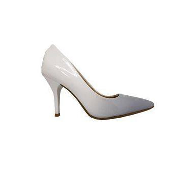 e2c0c9a09a Pechinchas-49% Sapato Social Beira Rio Scarpin Elegante Degrade Jeans