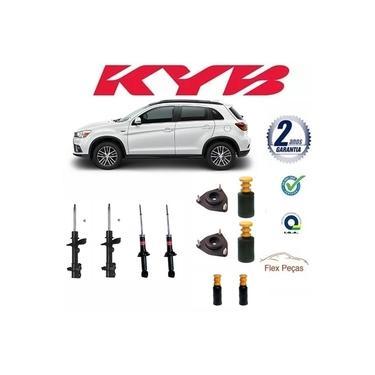 4 Amortecedores Mitsubishi Asx 2011 2012 2013 2014 2015 2016 2017 Kayaba C/ Kit Completo