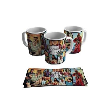 Caneca Gta Grand Theft Auto V Jogo Vídeo Game Geek Gamer Ps4