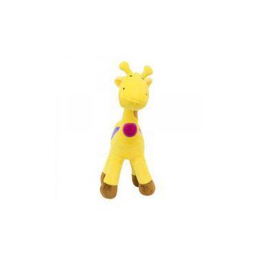 Imagem de Girafa Amarela Com Pintas Coloridas 45 cm - Pelúcia