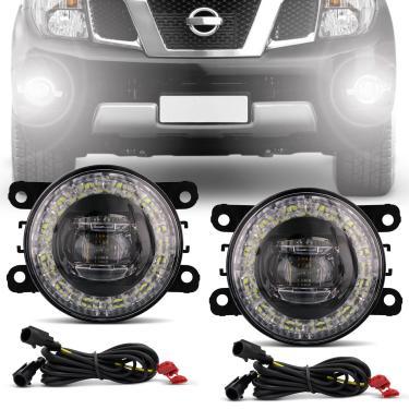 Par Farol Milha LED DRL Anel Lâmpada Integrada Citroen Honda Renault Ford Nissan Mitsubishi Peugeot
