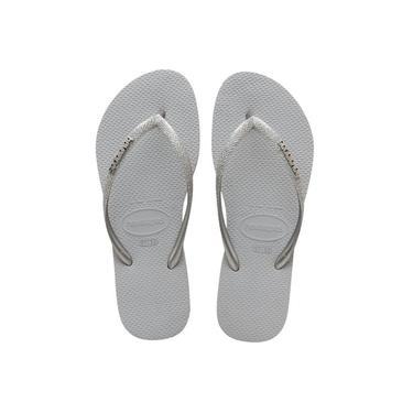 Havaianas Sandália Slim Glitter Cinza Gelo - Tamanho 41/42