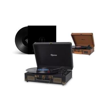 Maleta Vitrola Toca Disco Vinil Bluetooth FM Usb Classico Retro Vintage