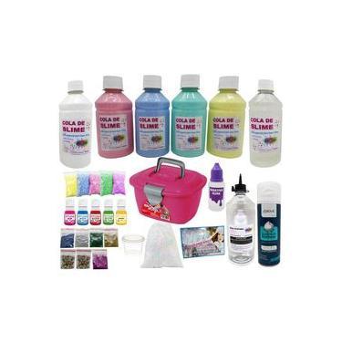 Imagem de Kit Para Fazer Clear Slime - Slime Transparente Pérolas Isopor Corantes