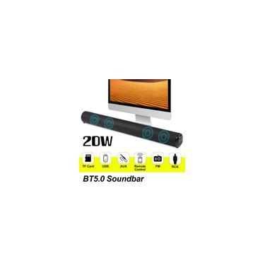 Imagem de 56 cm 26 polegadas com controle remoto 20 W Super Power Wireless Bluetooth Soundbar Barra de som Alto-falante Subwoofer TV Home Theater Barra de som