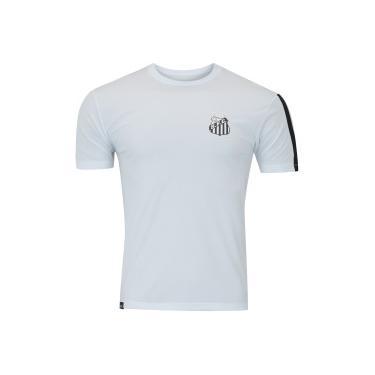 301f1ee9b2 T Shirt Nac Licenc Meltex Santos Faixa - BRANCO PRETO Meltex