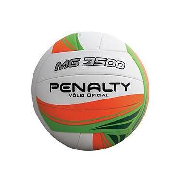 4ce83c49ad Bola de Vôlei Penalty Mg 3500 Branco Laranja e Verde