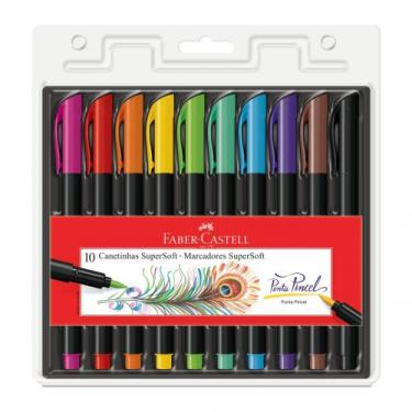 Brush Pen 10 Cores Faber-castell - Faber castell