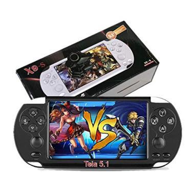 Mini Game Portátil 10mil Jogos Player Mp3 Mp4 Mp5 Psp X8 tela de 5.1