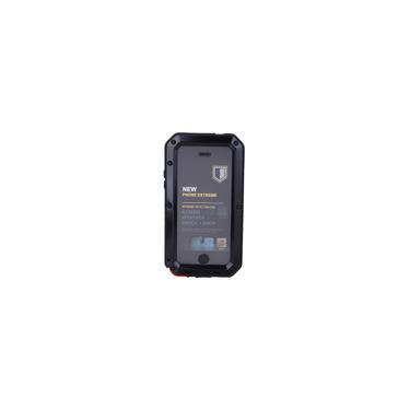 Capa de alumínio à prova de choque à prova d'água para iPhone 5 / 5s / SE - preto