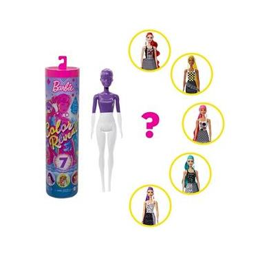 Imagem de Boneca Barbie Fashionista Estilo Surpresa - Color Reveal - Série Monocromática - Mattel