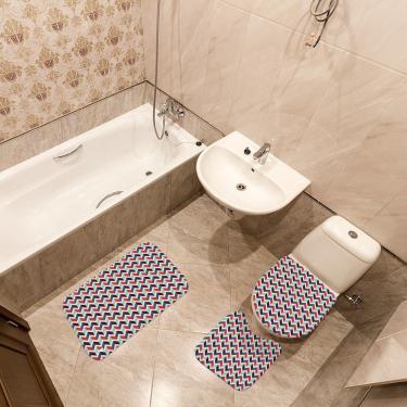 Imagem de Jogo de Banheiro Geométrico Colorido Único
