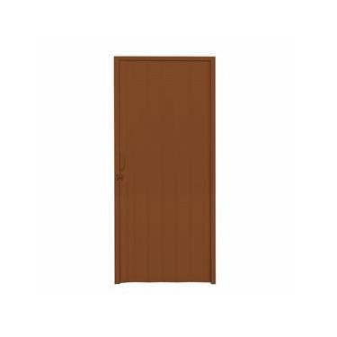 Porta Sanfonada PVC Polifort 210cmx80cm Mogno
