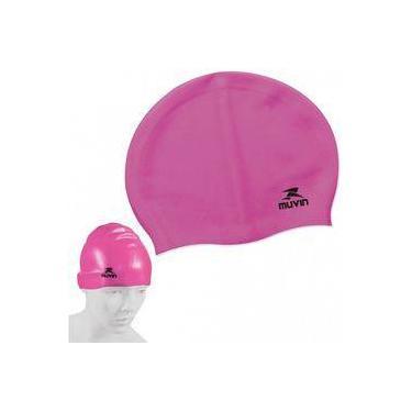 1be55c0a5 Touca para Natacao e Hidroginastica em Silicone Slim Pink muvin